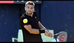 Croatia's Borna Coric is going for his second grass-court title this week at the Libema Open.