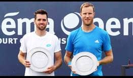 Austin Krajicek and Dominic Inglot convert two of three break points to beat Marcus Daniel and Wesley Koolhof in the Libema Open final.