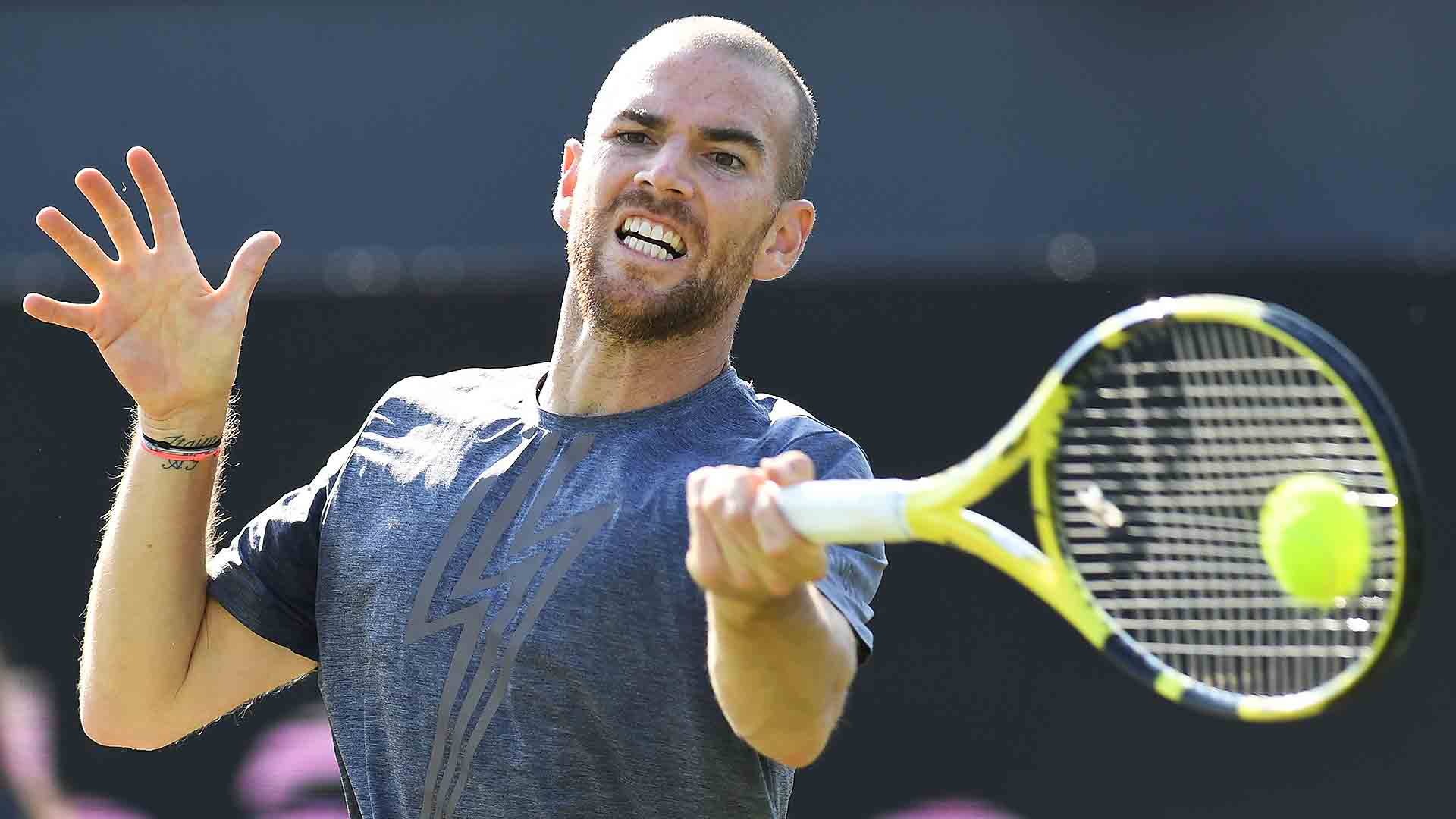 Adrian Mannarino defeats Borna Coric in a final-set tie-break to reach the Libema Open final on Sunday.