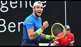 Matteo Berrettini defeats Felix Auger-Aliassime on Sunday in Stuttgart to claim his second title of the year.
