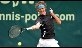 Alexander Zverev is looking to win his first NOVENTI OPEN title this week in Halle.
