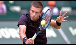 Borna Coric wins his first tour-level meeting with Joao Sousa on Wednesday in Halle.