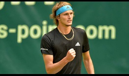 Alexander Zverev is going for his first Halle title this week.