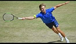 David Goffin does not lose his serve en route to his semi-final victory against Matteo Berrettini.