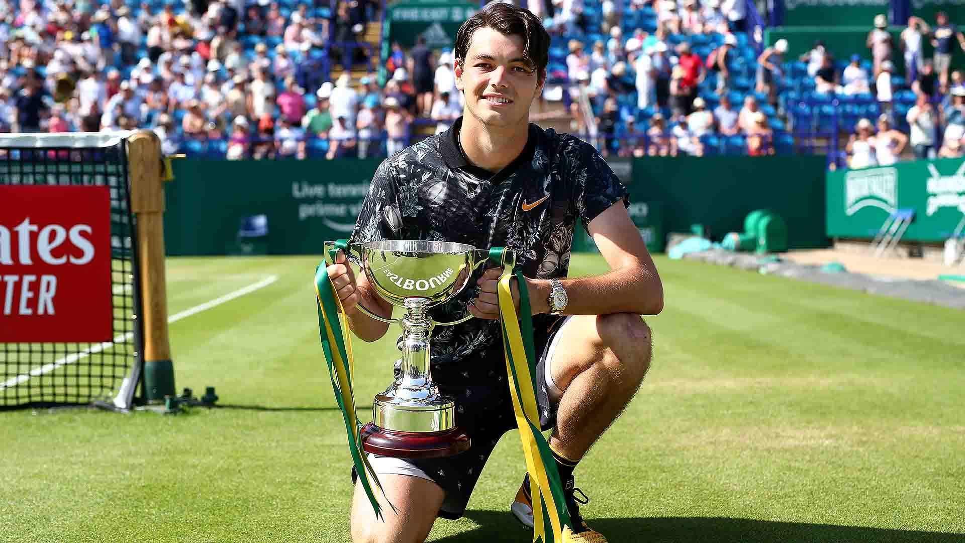 <a href='https://www.atptour.com/en/players/taylor-fritz/fb98/overview'>Taylor Fritz</a> dropped one set en route to the <a href='https://www.atptour.com/en/tournaments/eastbourne/741/overview'>Nature Valley International</a> trophy.