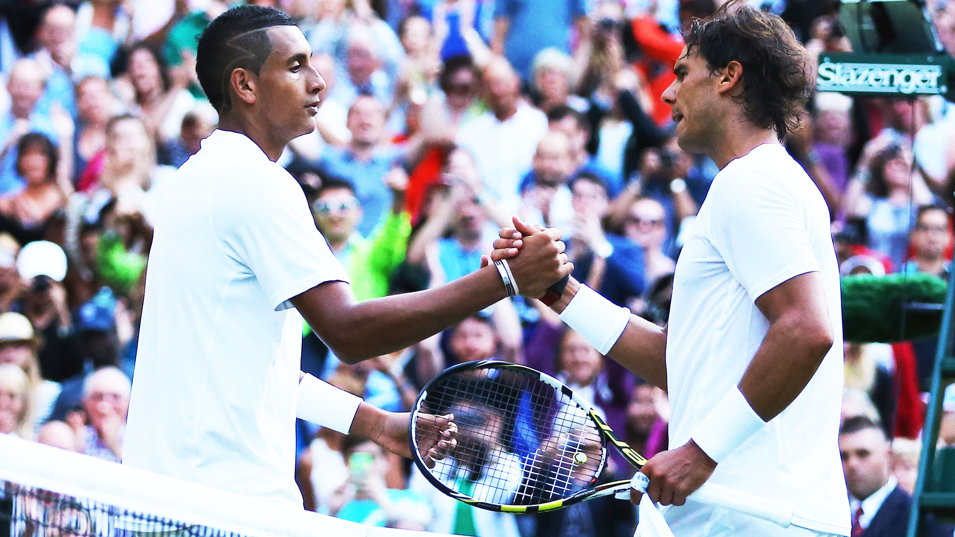 <a href='https://www.atptour.com/en/players/nick-kyrgios/ke17/overview'>Nick Kyrgios</a> and <a href='https://www.atptour.com/en/players/rafael-nadal/n409/overview'>Rafael Nadal</a> at <a href='https://www.atptour.com/en/tournaments/wimbledon/540/overview'>Wimbledon</a> 2014