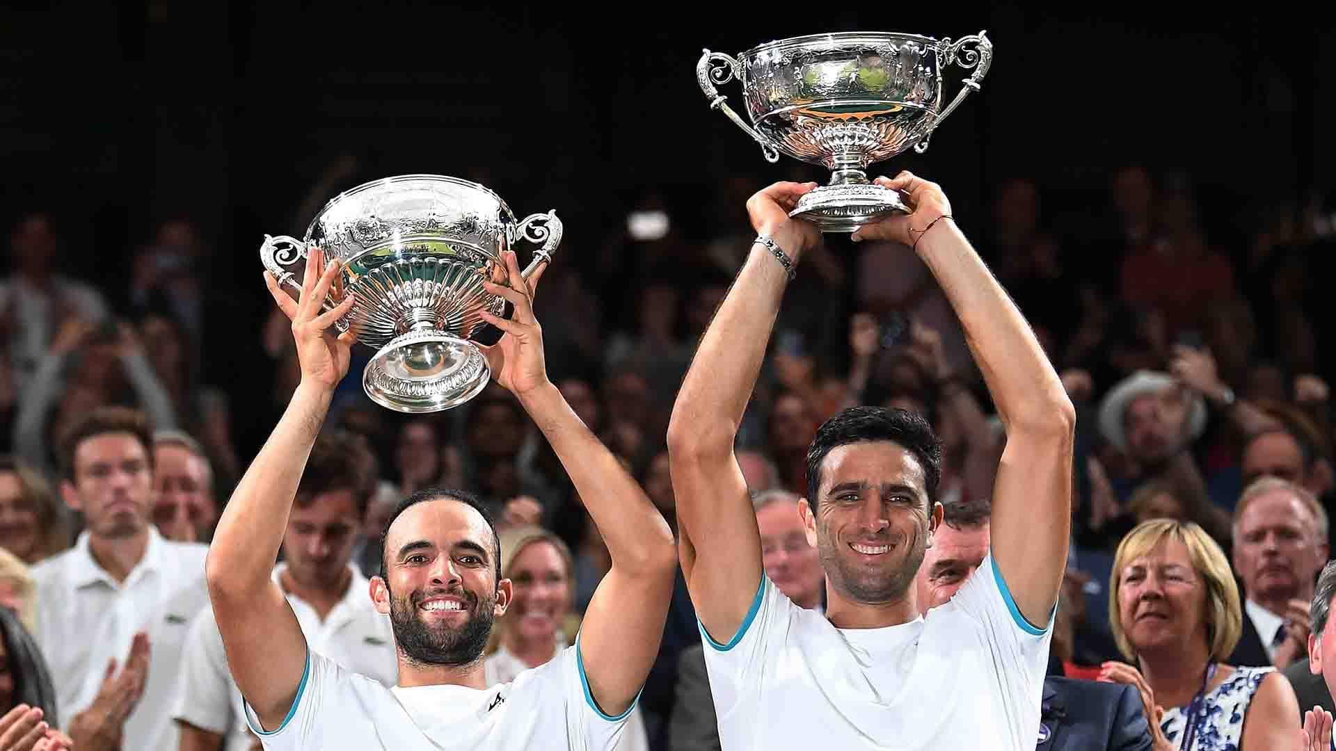 Juan Sebastian Cabal and Robert Farah lift their fourth tour-level title of the season at Wimbledon.