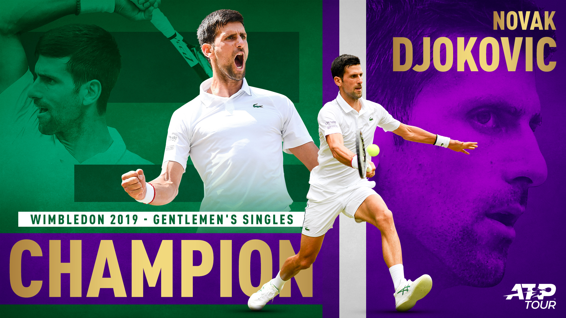 Novak Djokovic wins his fifth Wimbledon title on Sunday against Roger Federer