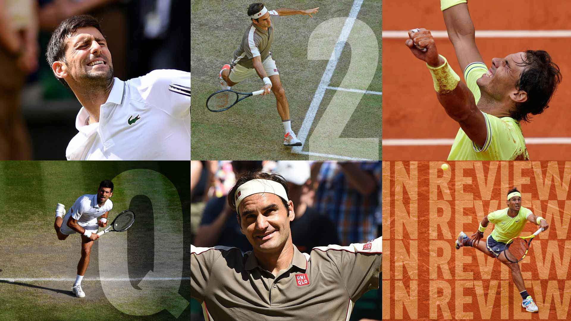 Novak Djokovic, Roger Federer and Rafael Nadal have dominated the storylines during the second quarter of the 2019 season.