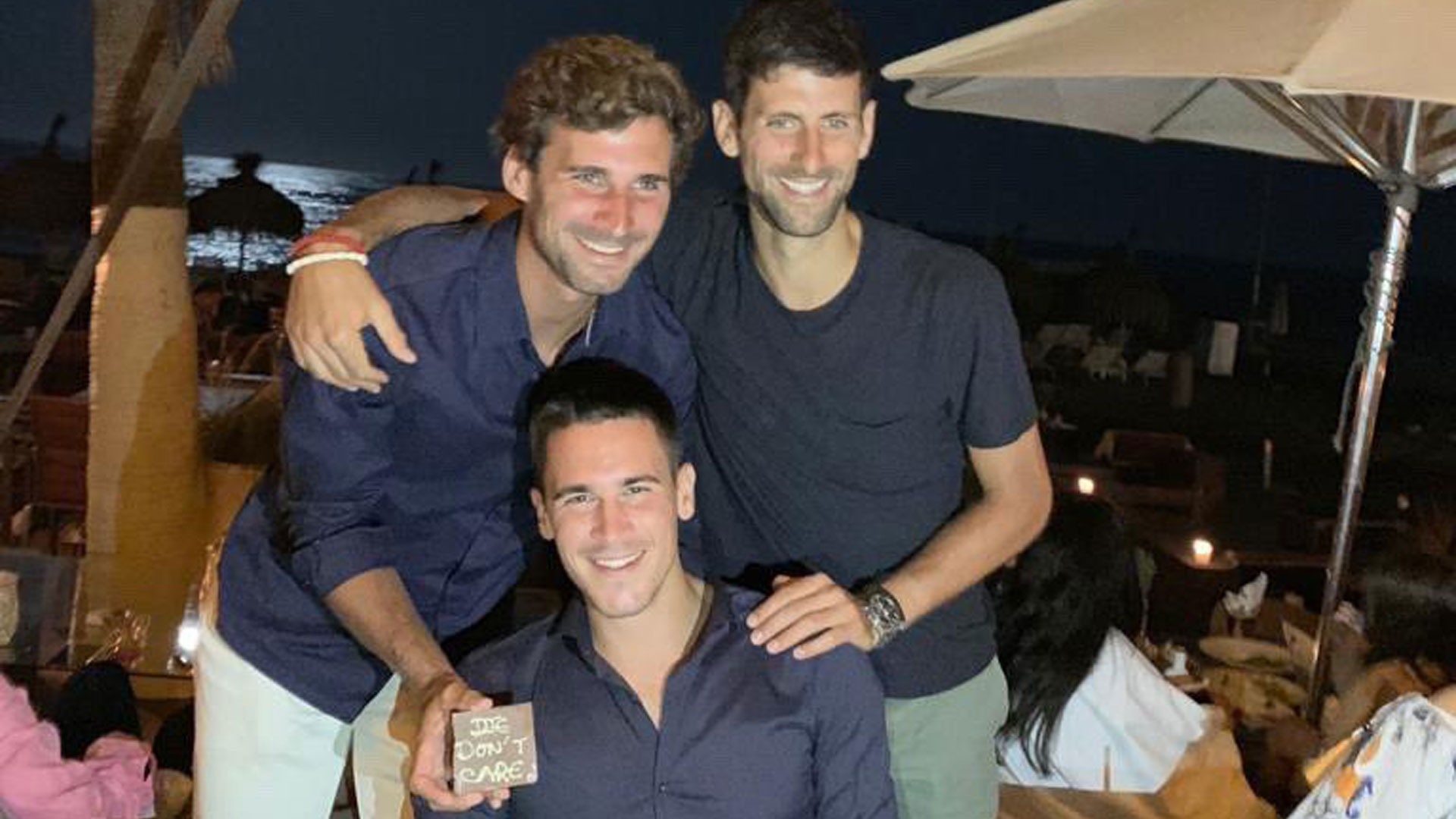 Novak Djokovic celebrates his brother's birthday in July 2019