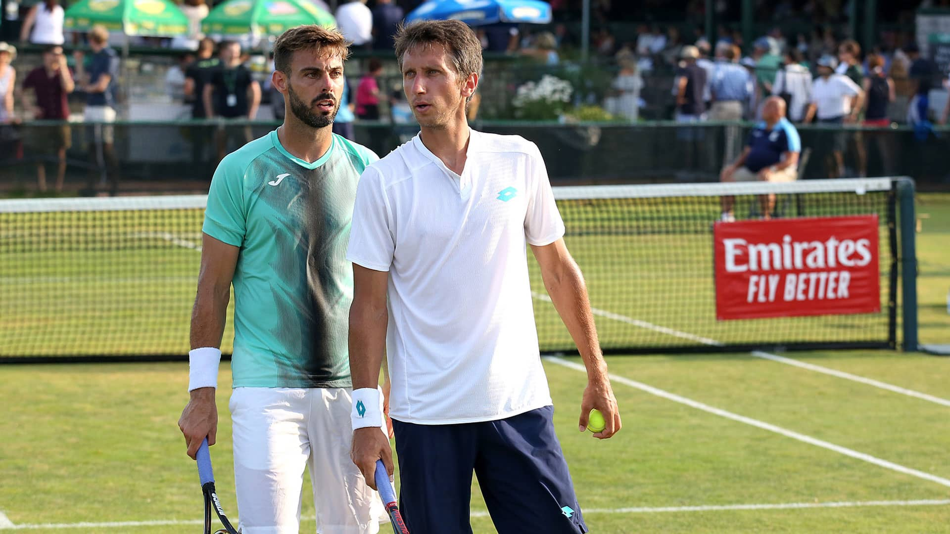 Marcel Granollers and Sergiy Stakhovsky in Newport 2019