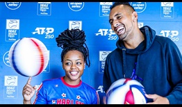 Harlem Globetrotter Torch George and Nick Kyrgios chat about their love of basketball.