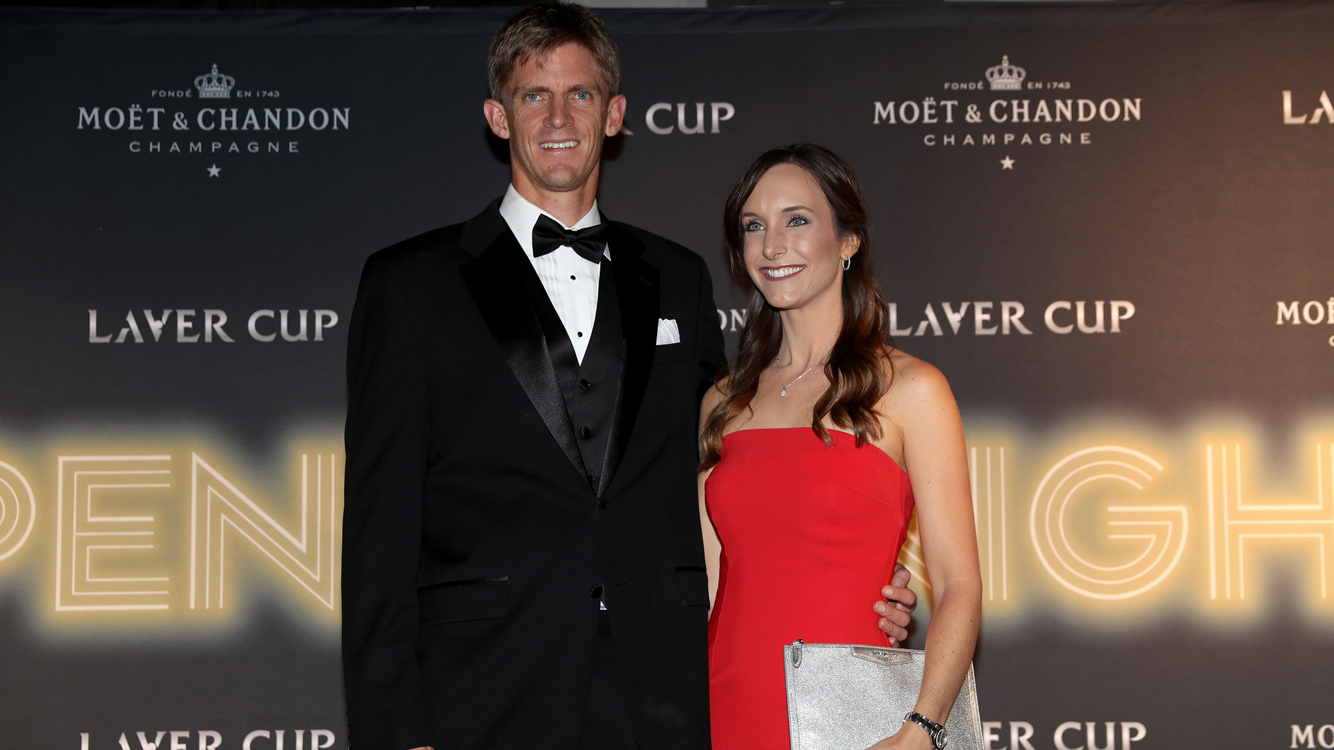 Kevin Anderson and his wife, Kelsey, at the 2018 Laver Cup