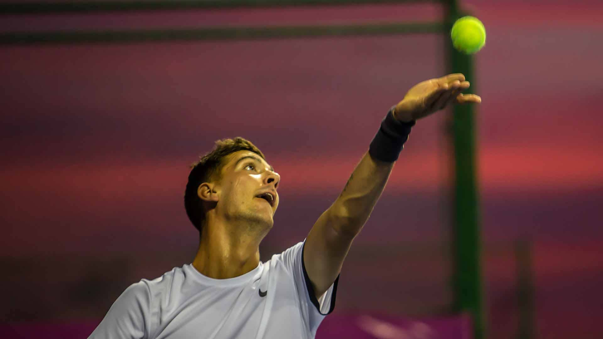 Thanasi Kokkinakis advances on Monday in Los Cabos