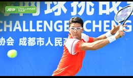 Hyeon Chung is back in action at the ATP Challenger Tour event in Chengdu.