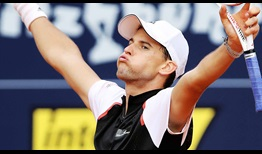 Dominic Thiem advanced to his third semi-final in Kitzbühel.