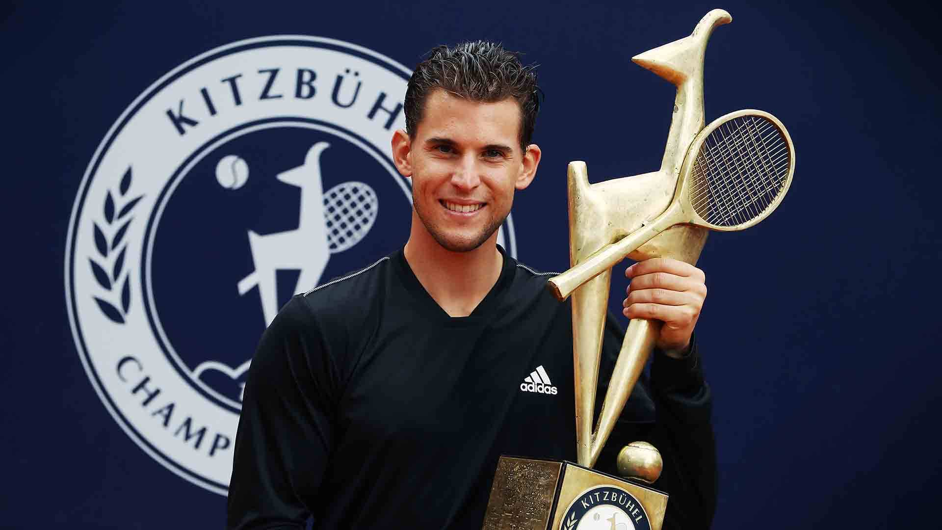 Dominic Thiem lifts his 14th ATP Tour title at the Generali Open in Saturday.