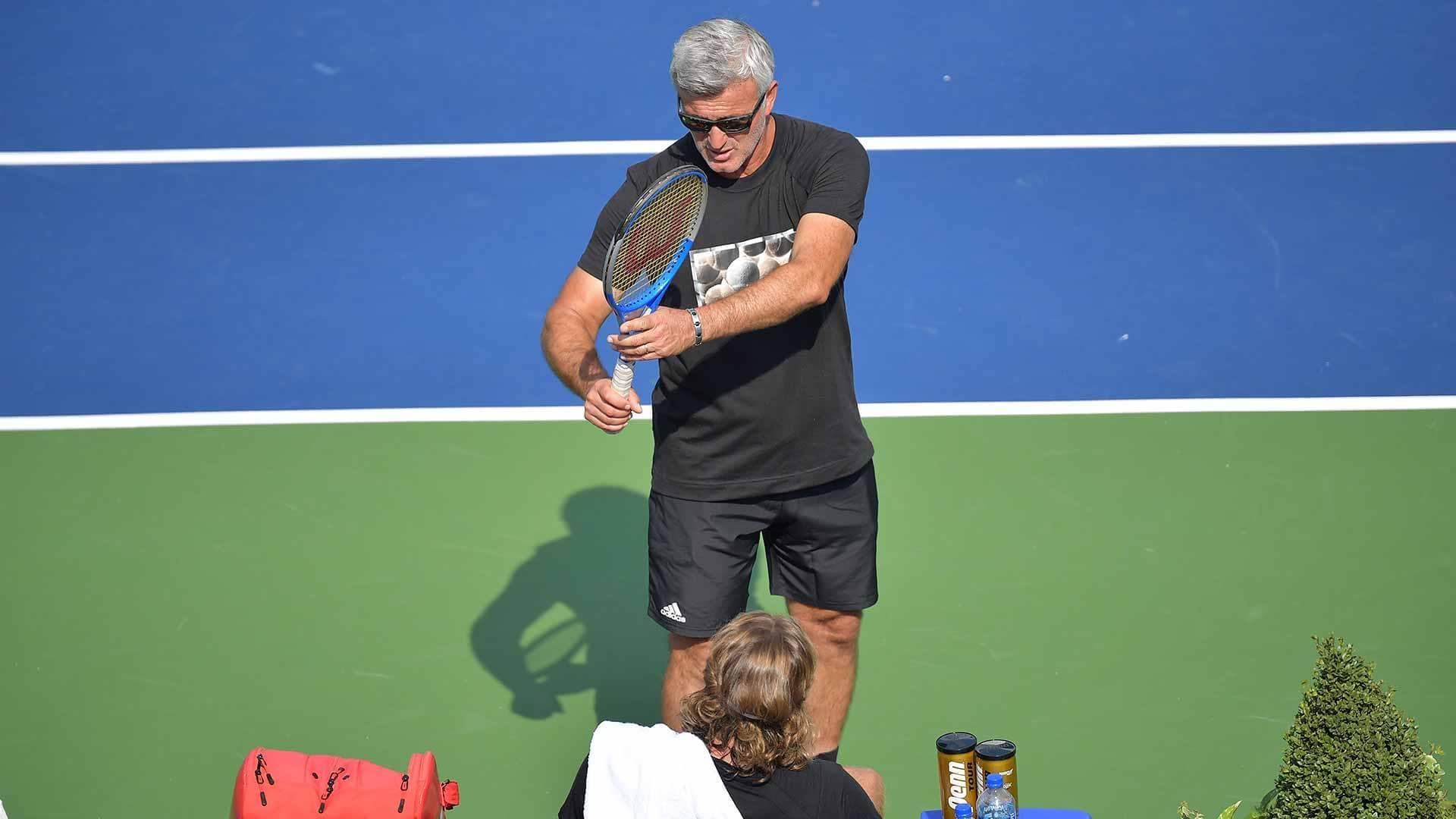 Apostolos Tsitsipas Coach Of Stefanos Tsitsipas Nitto Atp Finals Champion The Accidental Tennis Coach Atp Tour Tennis