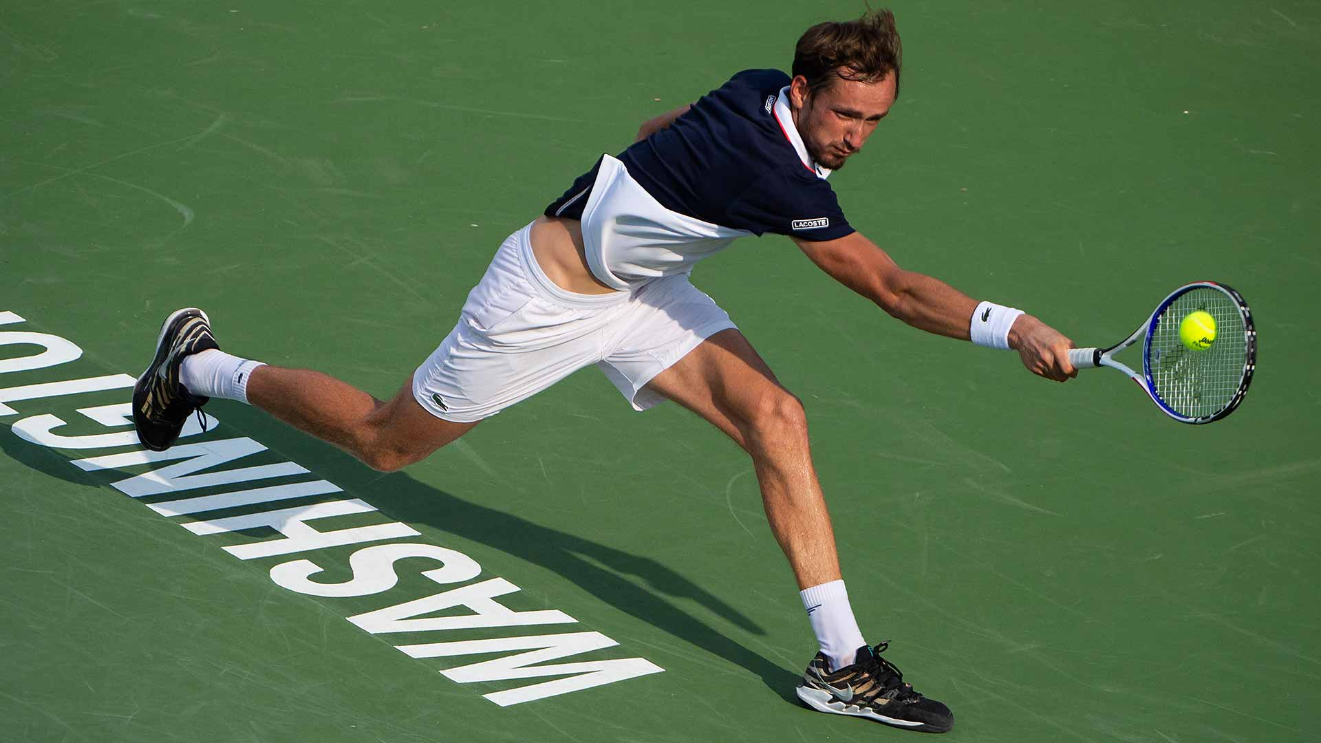 <a href='https://www.atptour.com/en/players/daniil-medvedev/mm58/overview'>Daniil Medvedev</a> is going for his second ATP 500 title in Washington, D.C.