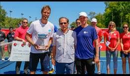 Norbert Gombos is the champion at the Winnipeg Challenger.