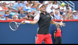Dominic Thiem doesn't have things his own way but survives a tight encounter against Marin Cilic on Thursday in Montreal.
