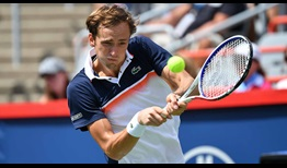 Daniil Medvedev's backhand remains one of the most unorthodox parts of his game.