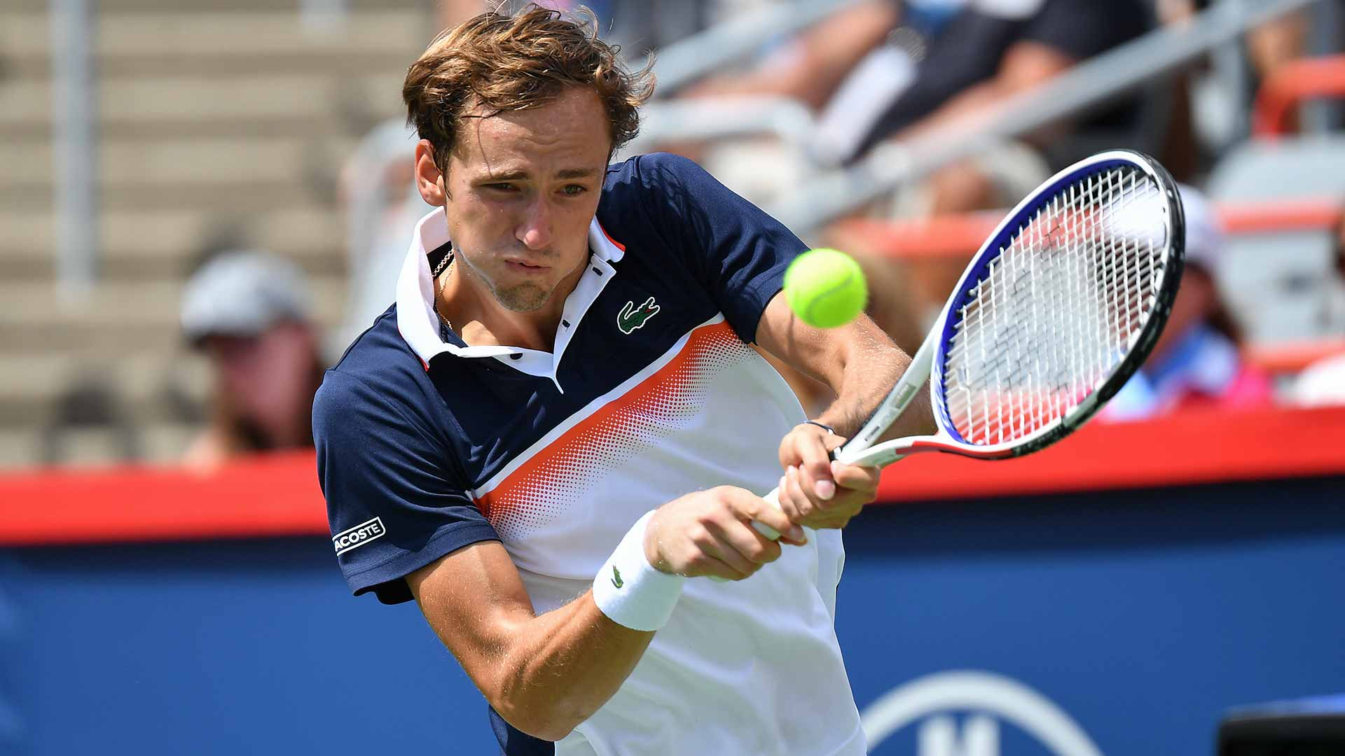 Daniil Medvedev beat Dominic Thiem in straight sets on Friday at the Coupe Rogers in Montreal