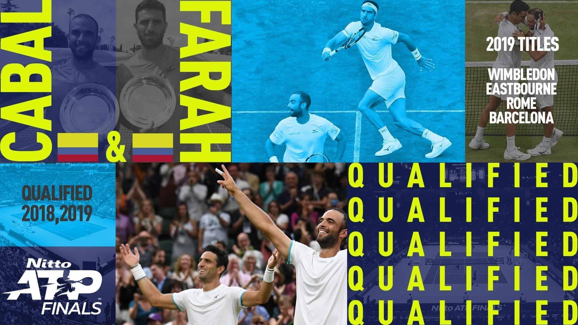 <a href='https://www.atptour.com/en/players/juan-sebastian-cabal/c834/overview'>Juan Sebastian Cabal</a> and <a href='https://www.atptour.com/en/players/robert-farah/f525/overview'>Robert Farah</a> have qualified for the <a href='https://www.atptour.com/en/tournaments/nitto-atp-finals/605/overview'>Nitto ATP Finals</a> for the second consecutive year.