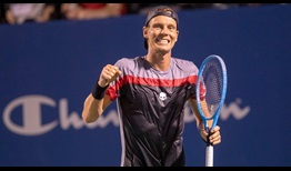 Tomas Berdych picks up his first win since February at the Winston-Salem Open.