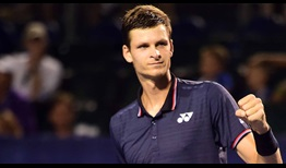 Hubert Hurkacz will go for his first ATP Tour title on Saturday in Winston-Salem.