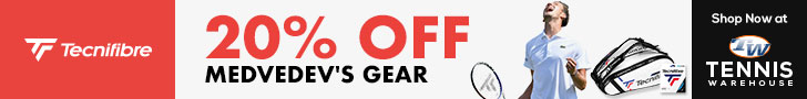 20% Off Medvedev's Gear at Tennis Warehouse