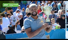 Jo-Wilfried Tsonga takes the ATP Challenger Tour title in Cassis, France.
