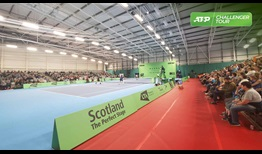 The Murray Trophy debuts on the indoor hard courts of the Scotstoun Leisure Centre in Glasgow.
