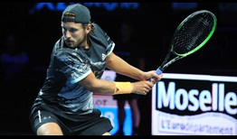 Lucas Pouille is one of four French players to reach the quarter-finals in Metz.