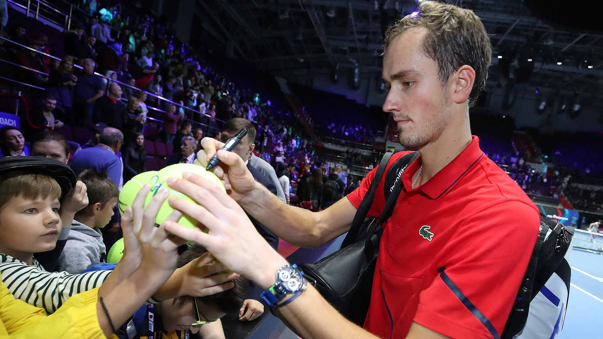 Daniil Medvedev beats Andrey Rublev on Friday at the St. Petersburg Open in Russia