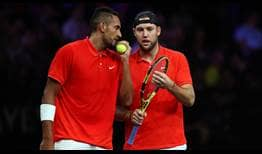 Nick Kyrgios and Jack Sock spoiled the debut team outing of Rafael Nadal and Stefanos Tsitsipas at Laver Cup.