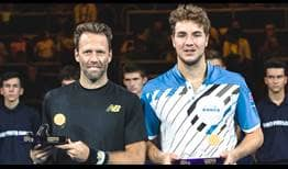 Robert Lindstedt and Jan-Lennard Struff defeat defending champions Nicolas Mahut and Edouard Roger-Vasselin to win the Moselle Open on Sunday.