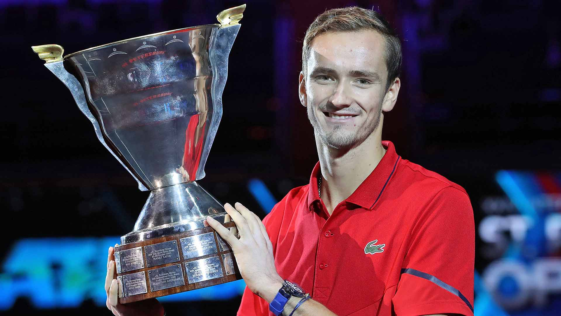 <a href='https://www.atptour.com/en/players/daniil-medvedev/mm58/overview'>Daniil Medvedev</a> beats <a href='https://www.atptour.com/en/players/borna-coric/cg80/overview'>Borna Coric</a> to win his third title of 2019 on Sunday at the <a href='https://www.atptour.com/en/tournaments/st-petersburg/568/overview'>St. Petersburg Open</a>