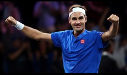 Roger Federer is undefeated (6-0) in singles at the Laver Cup.