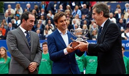 David Ferrer, middle, will become the Barcelona Tournament Director, succeeding Albert Costa, left.