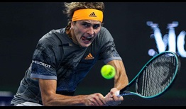 Second seed Alexander Zverev records his 35th match win of the year with victory over Frances Tiafoe in Beijing on Monday.