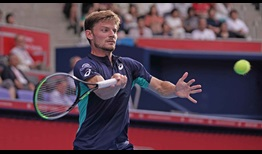 David Goffin, the 2017 Tokyo titlist, edged past Denis Shapovalov in two tie-break sets on Thursday.