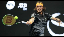 Stefanos Tsitsipas records his 40th match win of 2019 with victory over defending champion Nikoloz Basilashvili on Thursday in Beijing.