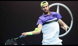Fourth seed Karen Khachanov grows in confidence during his quarter-final victory over Fabio Fognini on Friday in Beijing.