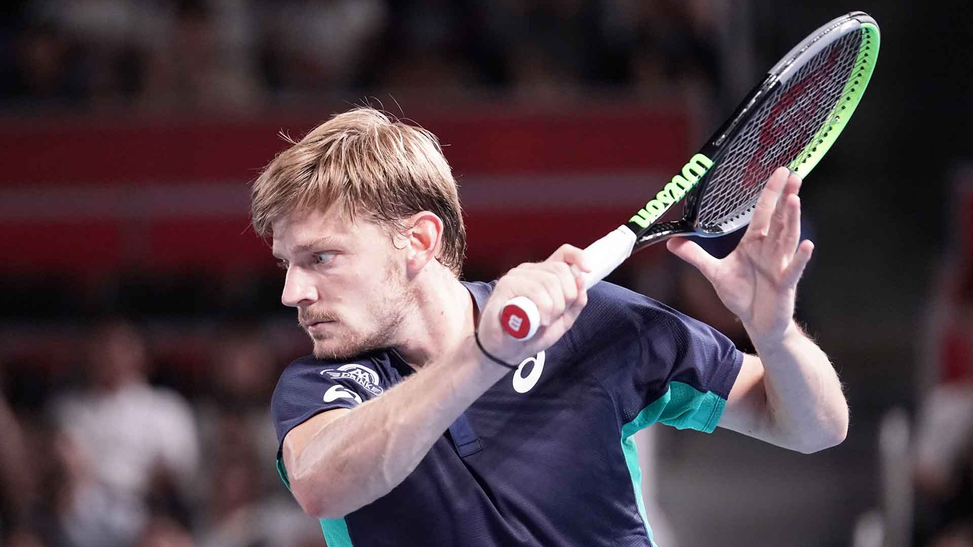 David Goffin is bidding to reach his third final in as many appearances at the Rakuten Japan Open Tennis Championships.