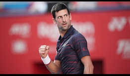 Novak Djokovic improves to 7-1 in his FedEx ATP Head2Head series against David Goffin.