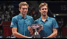 Nicolas Mahut and Edouard Roger-Vasselin win their first ATP Tour title as a team this year in Tokyo.