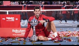 Novak Djokovic wins his fourth tour-level title of the year in Tokyo.