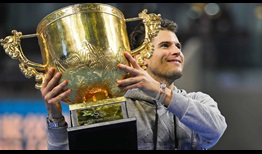 Dominic Thiem wins his second hard-court title of the season on Sunday at the China Open in Beijing.
