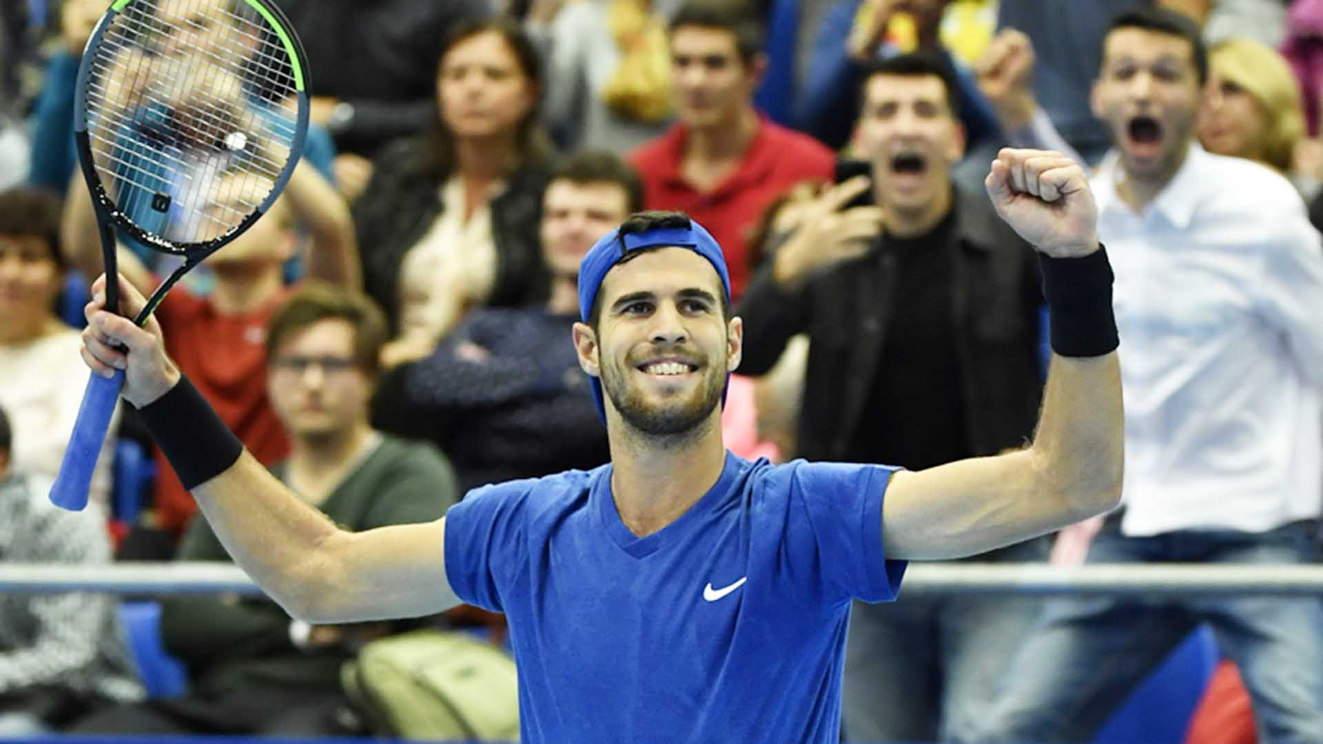 Karen Khachanov owns a 27-23 tour-level record this year.